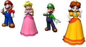 Lego Custom 4 Minifigs Super Mario Peach Luigi Daisy