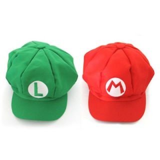 Super Mario Bros Cap Anime Cosplay Super Mario M & Super Mario L Hat 2