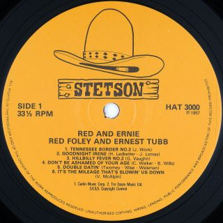 Red Foley and Ernest Tubb Red and Ernie LP NM NM