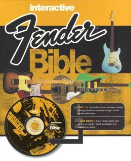 Interactive Fender Bible Book DVD Guitars Amps New 1906002061