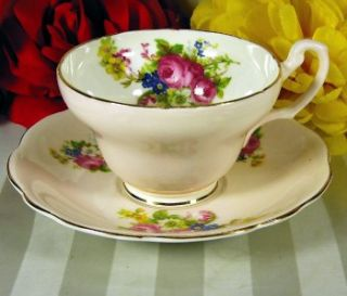 Foley Teacup Saucer Pink Floral Tea Cup
