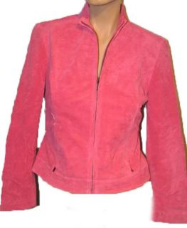 Valerie Stevens Pink Leather Jacket Womens s $168