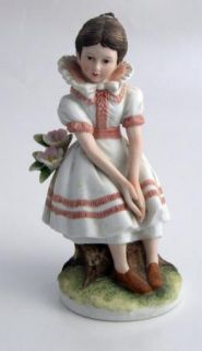 Lefton China Figurine Mark Twains Becky Thatcher Tom Sawyer