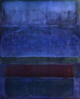 Mark Rothko Blue Green Brown Canvas Finest Museum Replica 37x30