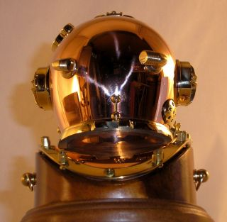 Mark V 6 U s Navy Divers Diving Helmet on Base 704 5R