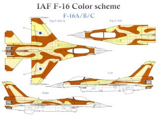 Skys Decals 1 72 Israeli Air Force F 16 Tail Markings