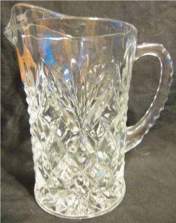 Vintage Markos Heritage Inn Restaurant Glass Pitcher Pineapple Glass