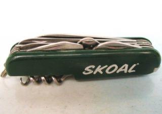 Vtg Skoal Multi Tool Chinese Stainless Pocket Knife