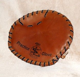 Markwort 9 Practice Glove Catchers Pancake Mitt Baseball Leather
