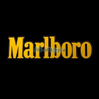 New Car Motorcycle Decal Marlboro Word Random Sticker Yellow 1181