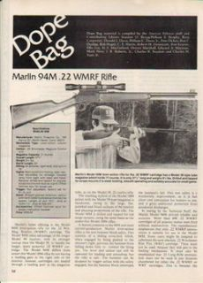 1983 Marlin Article Model 94 M 22 Lever Action Rifle