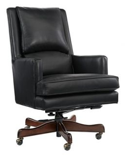 Brewster Leather Home Office Chair, Swivel