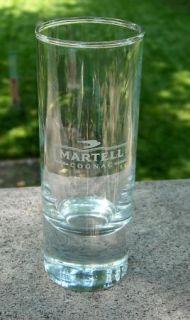 Martell Cognac Etched Shot Glass 2 Oz
