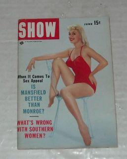 1956 SHOW DIGEST MENS MAGAZINE PIN UPS JAYNE MANSFIELD MARILYN MONROE