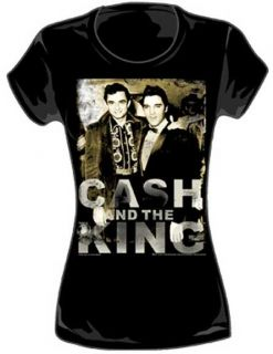Johnny Cash and Elvis Presley Girly T Shirt New s M L XL