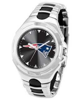 Game Time Watch, Mens New England Patriots Black Rubber and Stainless