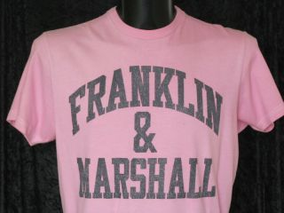 Franklin Marshall Mens Pink Short Sleeve T Shirt Size Large