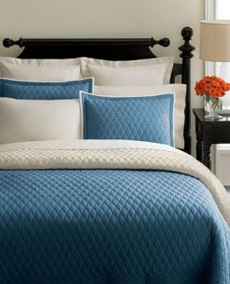 Martha Stewart Diamond Stitch Blue Full Queen Quilt