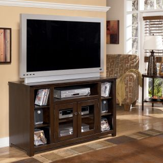 Ashley Marion 50in TV Stand Dark Brown Finish  New