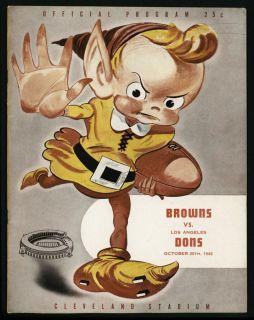 1946 Cleveland Browns vs Los Angeles Dons Program