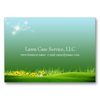 lawn care business business card templates