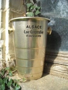 Vintage Shabby French Alsace Cave Cooperative Wine Cooler Ice Bucket
