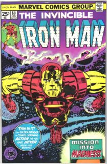 Iron Man Comic Book 80 Marvel Comics 1975 Fine