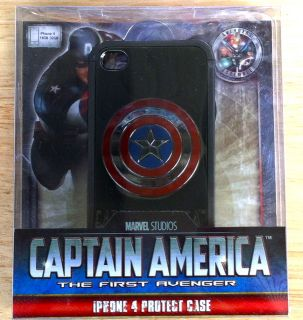 Marvel Studios Captain America iPhone 4 4S Hard Case RARE Design