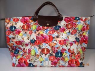 Extra Large Longchamp Mary Katrantzou Travel Bag Multi Color