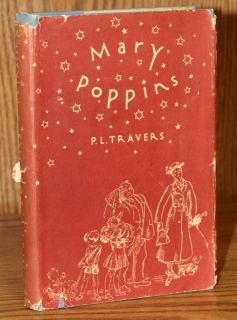 Travers Mary Poppins 1934 w DJ Early Fairy Tale Childrens Book