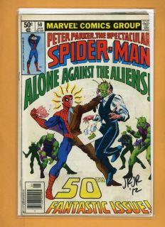 John Romita Jr Peter Parker Spider Man 50 Hand Signed Autograph Comic
