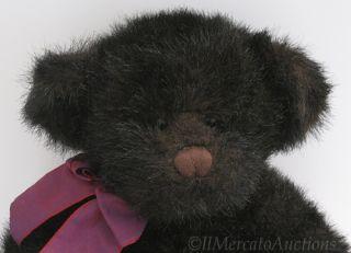 Plush Black RUSS WILSON Bear BOMBAY Co. TEDDY Stuffed Animal Childs