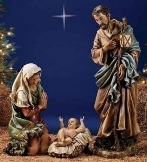 Set Holy Family 39 Jospeh Mary Baby Jesus Josephs Studio Outdoor