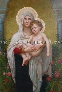 Religious Oil Paintings William Bouguereau Mary Jesus