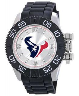 Game Time Watch, Mens Houston Texans Black Polyurethane Strap 47mm