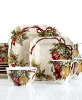 222 Fifth Dinnerware, Yuletide Celebration 16 Piece Set