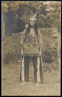 Farmington NH New Hampshire Native American Indian 1910 RPPC