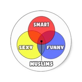 Venn Diagram .. Muslims Round Sticker