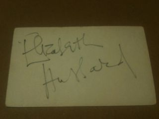 Elizabeth Hubbard actress Signed cut Autograph. Original autograph on