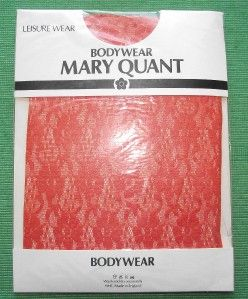 Vintage Mary Quant Orange Lace Leotard Body Stocking K