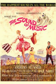 The Sound of Music Movie Poster 27x40 Julie Andrews Christopher