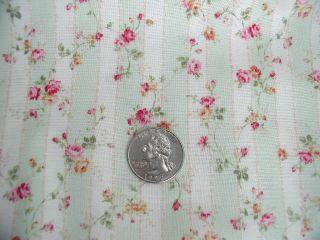 Mary Rose Paris Mr 1110R 15 Mint Cream Ticking 1 Yd