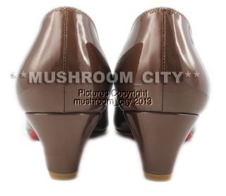 Stunning Christian Louboutin Marron Glace You You Patent Leather Heels