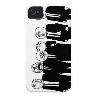 Rage Comic Meme Faces Walking. Me Gusta. iPhone 4 Cover