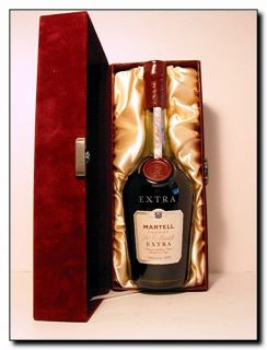 RARE J F Martell Extra Cognac in Velvet Presentation Box 750ml