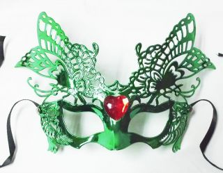 Butterfly masquerade party ball mask jewelled, Green, Pink, Red Silver