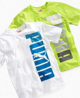 Puma Kids T Shirt, Boys Logo Tee   Kids Boys 8 20