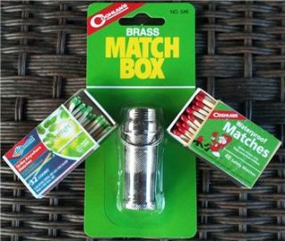 Brass Match Box Waterproof Matches Strike Anywhere Matches Combo