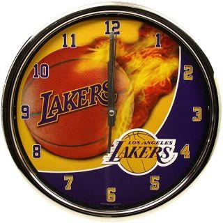 Los Angeles Lakers Sportsball Chrome Clock