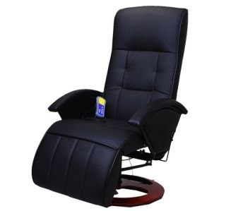 Aosom I3237 Black Office TV Recliner Massage Chair New